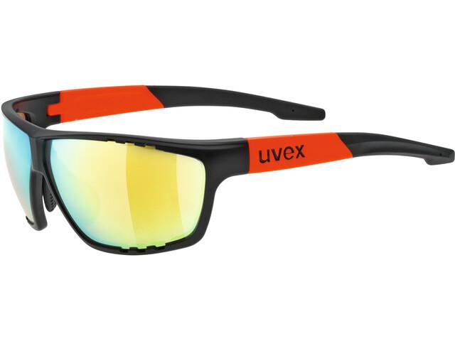 UVEX Sportstyle 706 Sportglasses black matt orange/mirror orange